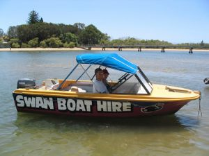 Swan Boat Hire - Byron Bay Accommodation