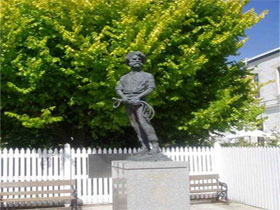 Alexander Cameron Statue - Byron Bay Accommodations