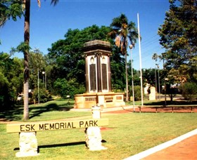 Esk War Memorial and Esk Memorial Park - Byron Bay Accommodations