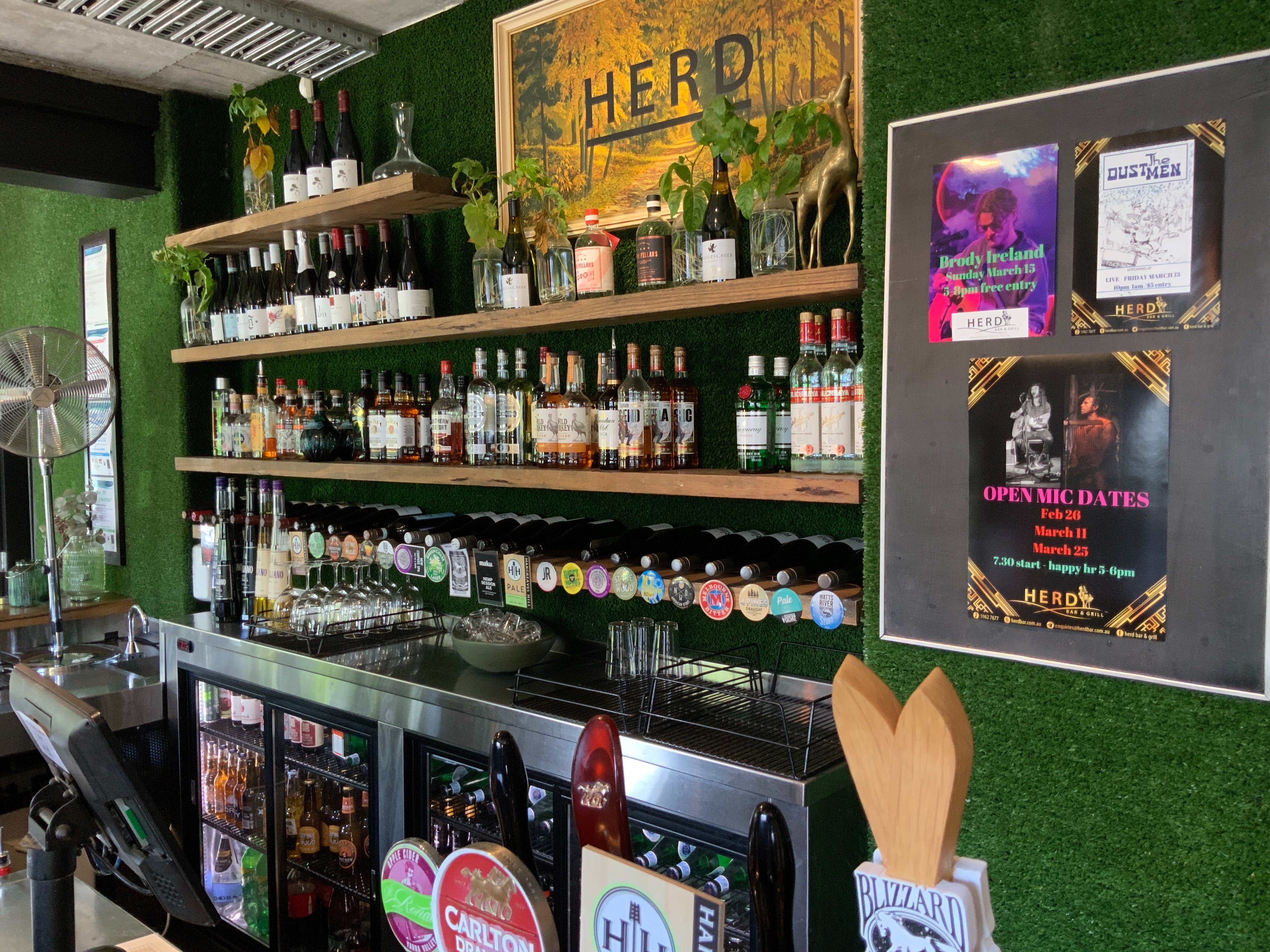 Open Mic at Herd Bar and Grill - Byron Bay Accommodations
