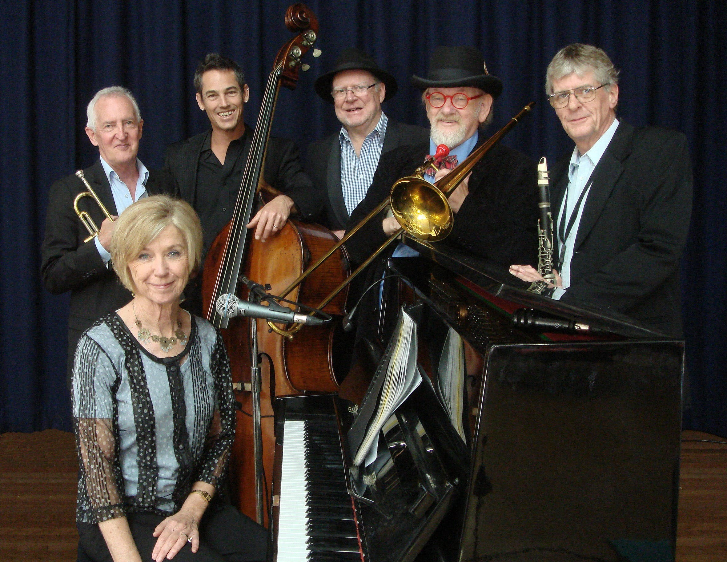 The Caxton Street Jazz Band in the Swigmore Hall at Robert Channon Wines - Byron Bay Accommodations